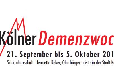 Infoabend für Interessierte im Rahmen der Kölner Demenzwochen am 21. und 26. September